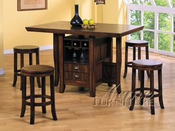 5 Piece Dining Set Wood Breakfast Furniture 4 Chairs And T