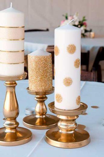 Resultado de imagen de decoracion bautizo blanco dorado