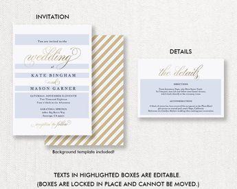Melia 5x7 Welcome Bag Card Template Wedding Welcome Gift