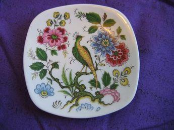 P. Pastaud Limoges Small dish.  Colorful floral pattern  Vintage 1950's.    Porcelain.