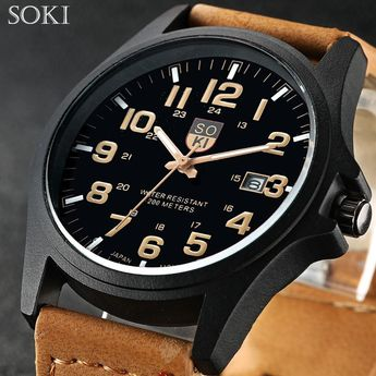 6e1561da90e SOKI Brand Hours Digital Watch relojes para hombre Men s Clock