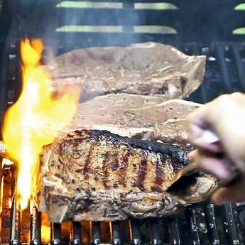 Use any cut of meat for these Grilled Steaks with Balsamic Worcestershire Marinade. They are tender, juicy, and absolutely flavorful.