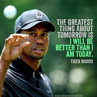 Love this quote by Tiger! - #golf #instagolf #instagolfer #tigerwoods #golfing #instalike #instagood #instacool #illbeback #ilovegolf #golfiscool ⛳️ #golfingiron
