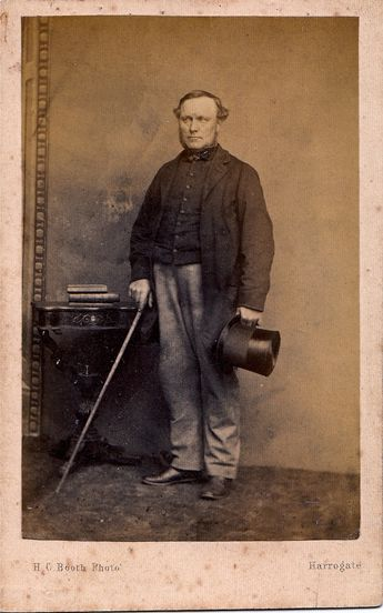 English Man In Mourning With Crepe Band On Top Hat Albumen Carte De Visite