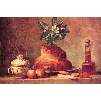 Buyenlarge 'Still Life with Brioche' by Jean Chardin Painting Print