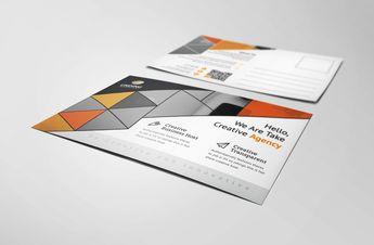 Alastor Modern Elegant Postcard Template - Graphic Templates