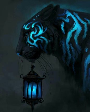 I really like lanterns. I'm mostly here for the lantern. The tiger's cool too. The art is very good.