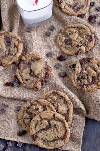 Vegan Cherry Chocolate Chunk Cookies