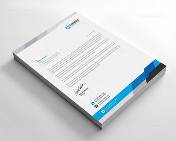 Modern Business Letterhead Template - Graphic Templates