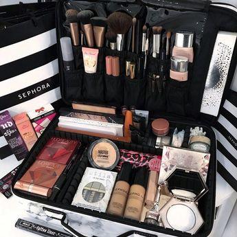 Large vc makeup bag - marble
