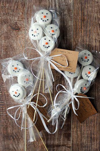 Oreo Snowmen