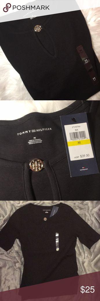 26c8297ae5301 NWT Tommy Hilfiger Keyhole Tee NWT Tommy Hilfiger keyhole tee in the black.  Size medium