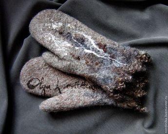 08f0ced72eb1c Яркие красивые теплые женские валяные варежки Эко-дизайн 2,3,4,5