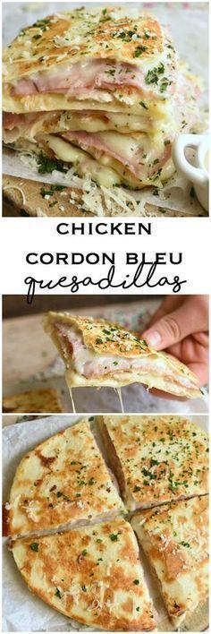 Chicken Cordon Bleu Quesadillas