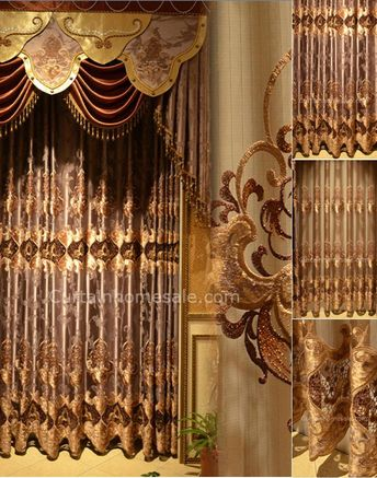 Insulated Purplish Gray Polyester Victorian Style Thermal Curtain Not Included Valance