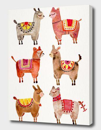 «Alpacas» Canvas Print by Cat Coquillette