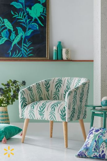 Go for the green! This collection's eclectic mix of vintage-style furniture & green-on-green decor has a way of making any space feel more chic.