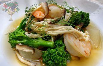 Japanese 2-Mushroom Dashi Soup w. Shrimp Recipe