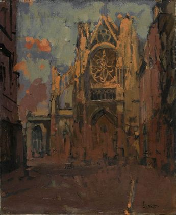 Walter Sickert - The Façade, St Jacques, Dieppe (1900)