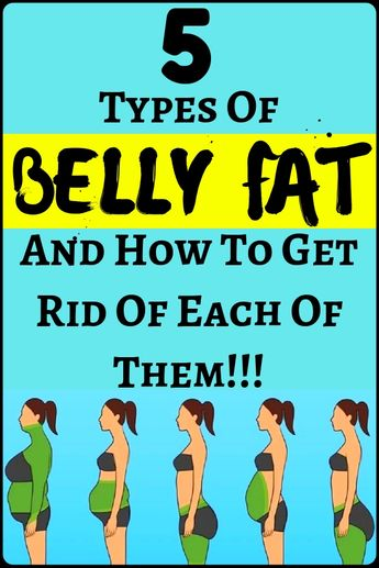 5 Types Of Belly Fat And How To Get Rid Of Each Of Them - amazing health and fitness + weight loss...!!!!