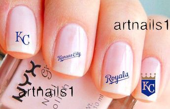 Kansas City Royals Nails Baseball Nail Art Waterslidedecal Stickers Salon Polish