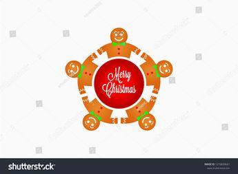Gingerbread Teamwork People Vector Illustration  #gingerbread #christmas #food #sweet #holiday #men #dessert #xmas #traditional #homemade #cookies #ginger #man #cookie #background #biscuit #decoration #baked #winter #seasonal #celebration #vector #logo