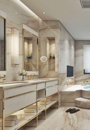 48 Inspiring Luxury Bathroom Design Ideas