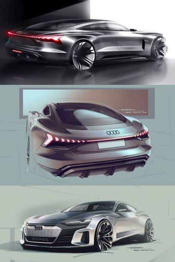 Audi e-tron GT Concept: design sketches  #Audi #ConceptCar #Audietron #CarDesign #CarBodyDesign #DesignSketch #CarDrawing #CarDesignSketch