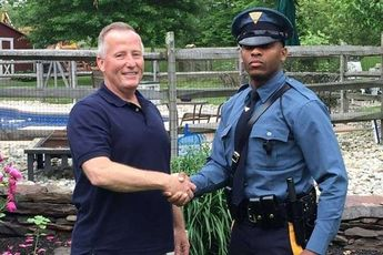 New Jersey state trooper stops motorist who delivered him 27 years ago
