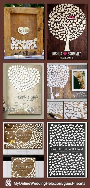These are nice for alternative wedding guest books. Each of them have hearts! Inside the My Online Wedding Help products section. Prices start at $40. #coolweddingideas #bestweddingideasarticles #bestweddingideaslink #dreamweddingideas #weddingideascreative