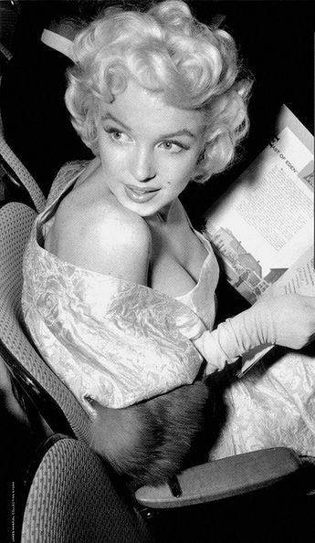 Marilyn Monroe at the premiere of East of Eden in 1955