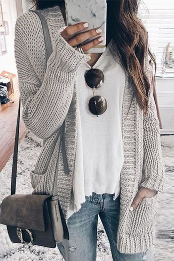 Weststylish Medium Long Thick Cardigan Sweater