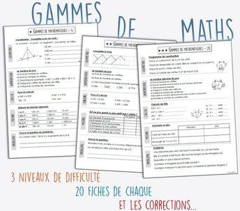 Les gammes de mathématiques CM1-CM2 - #CyclingAccessories #CyclingPhotos #CyclingTraining