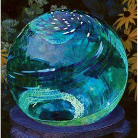 "Gazing Mirror Ball - Stainless Steel - By Trademark Innovations (Blue, 10"") - Walmart.com"