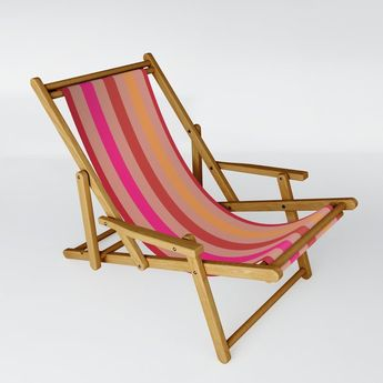 Summer Stripes Sling Chair by poppytalk | Society6