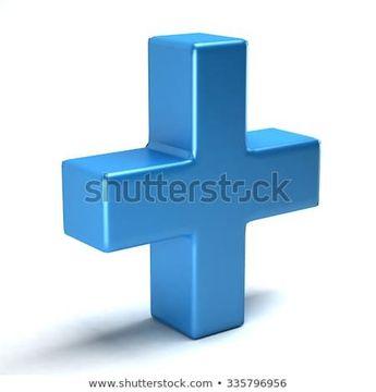Plus sign in color blue  #3d #plus #math #sum #add #sign #icon