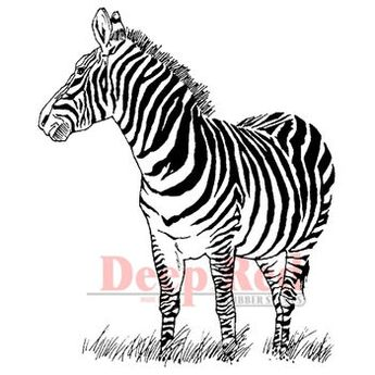 Deep Red Stamps Cling Stamp Zebra