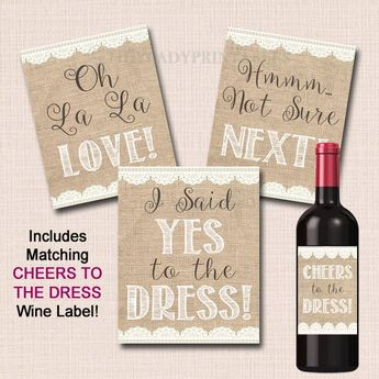 Say Yes To The Dress Signs Paddle Instant