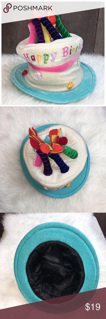 Elope Birthday Cake Hat 11 H X 12 W Soft Plush
