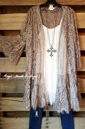AHB EXCLUSIVE: Lace In Your Arms Cardigan - Mocha