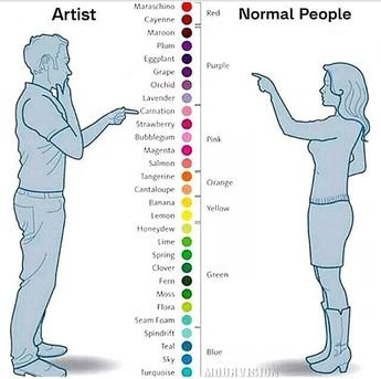 The REAL Color Chart Through The Eyes Of An Artist