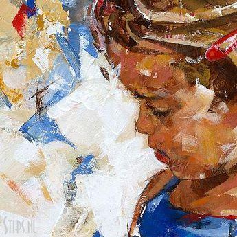Lentebloempje - Dorus Brekelmans | Giclee op canvas | stips.nl