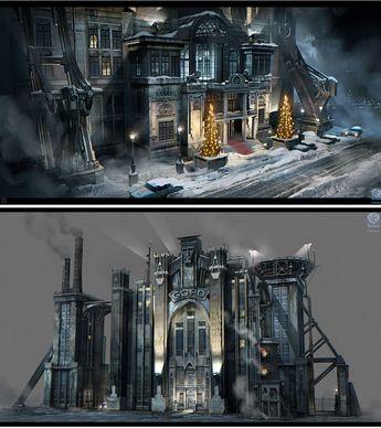 Concept Arts de Batman Arkham Origins, por Nicolas Ferrand  | THECAB