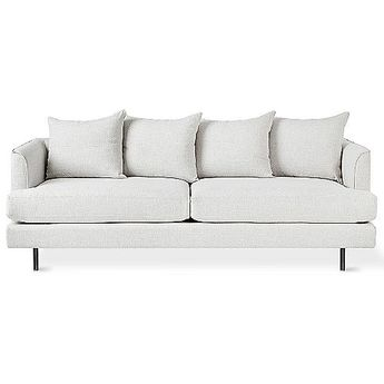 Stupendous White Tufted Sofa 3 Seater Upholstered Article Parker Pdpeps Interior Chair Design Pdpepsorg