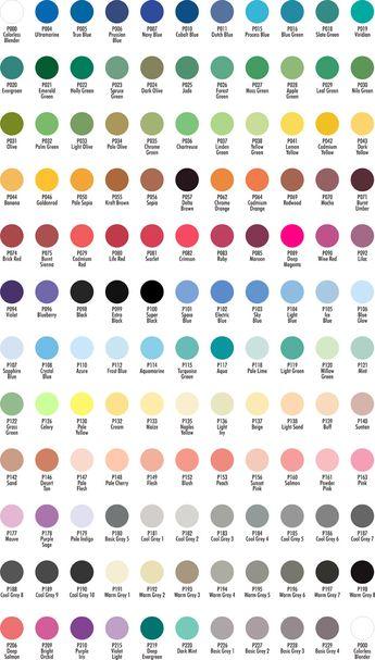 Chartpak Color Chart