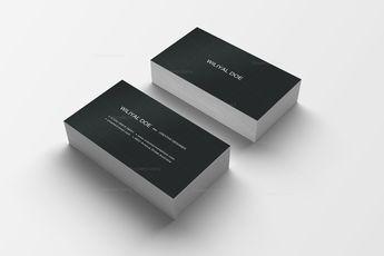Pink Black Business Cards 5