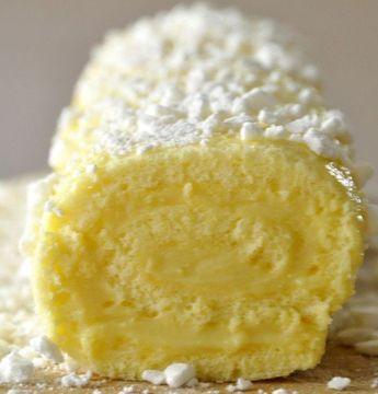 Recette de goûter simple : le roulé au citron
