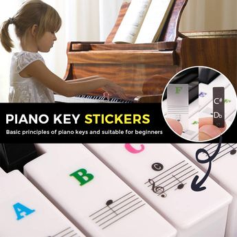 Need Those Piano Key Stickers!! 😍 It makes learning easier and it speeds up your memory for the keys. #LifeBooster #PianoKeyStickers #Piano #KeyStickers
