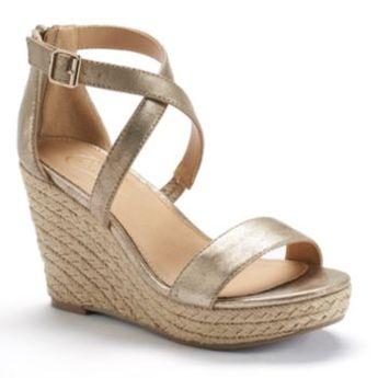 Candie's® Women's Espadrille Platform Wedge Sandals