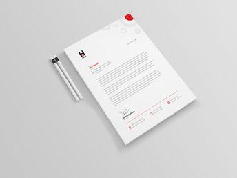 Achelous Professional Corporate Letterhead Template - Graphic Templates